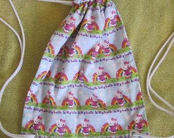 Hello Kitty Rainbow Drawstring Backpack