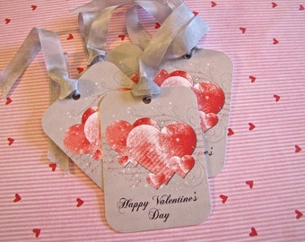 Valentine Tags-Happy Valentine's Day-Set of 6