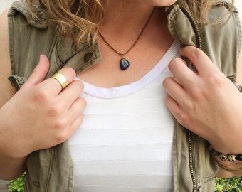 dark green stone necklace