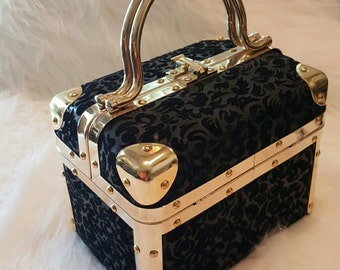 Vintage Borsa Bella Flocked Trunk Bag