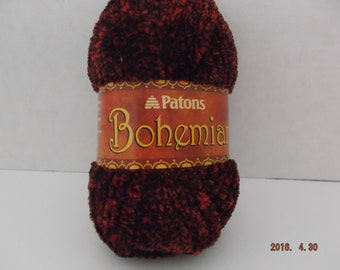 Patons Bohemian Yarn ~ #6 Super Bulky~ Colour: Hot Stuff ~ 80 grams