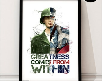 Captain America Art Print, Marvel Superhero Inspired, Quote, Avengers Art, Civil War, Winter Soldier