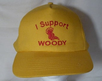I Support Woody// VINTAGE // Yellow Snap Back // snapback hat