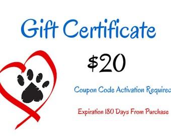 Cjazzcarolina  Gift Certificate USD 20.00