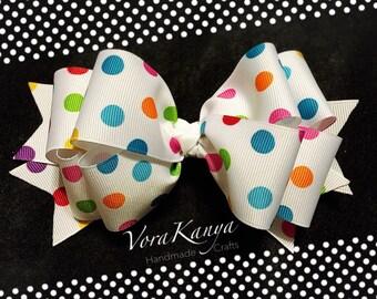 Handmade Polka dots Hair Bow