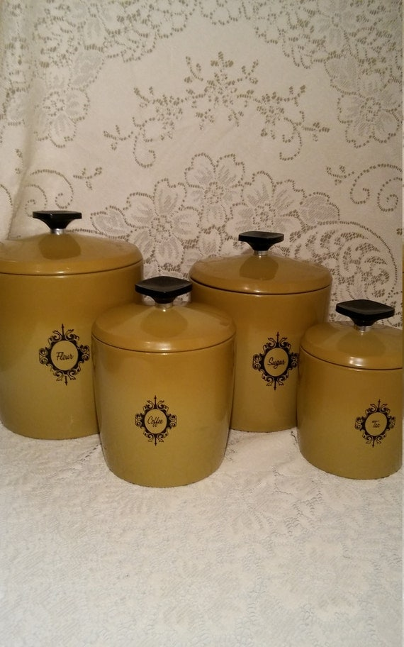 yellow kitchen storage jars ombre yellow canisters aluminum nesting kitchen canisters 1694