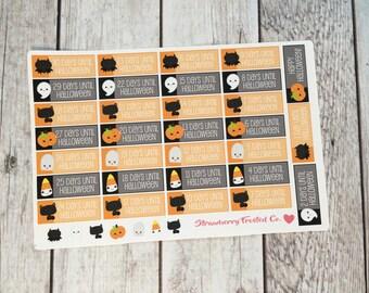Halloween Countdown Planner Stickers-