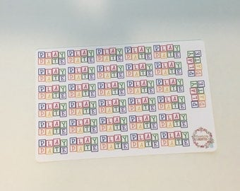 Play Date Planner Stickers-Birthday Planner Stickers- Made to fit Vertical Layout