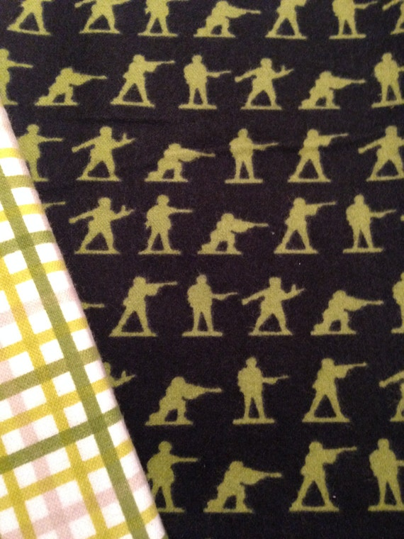 Washable Weighted Green Army Men Lap Pad/Small Blanket/Travel Weighted Blanket 3 pounds.  14.5x22 Ready to Ship