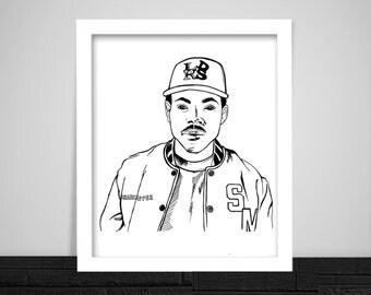 Chance the Rapper Print