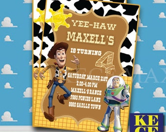 Toy Story Birthday Invitation,Woody Birthday Invitation,Toy Story Invitation, Toy Story Invite,Toy Story Birthday Party,Personalized,Custome