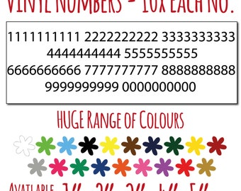 Vinyl Numbers - From 1 to 5 inches high - Huge range of colours!! - Free delivery