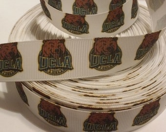 UCLA Bruins inspired Grosgrain Ribbon 7/8""
