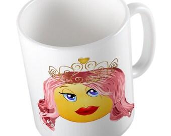 Emoji princess mug