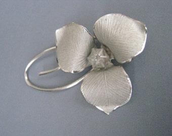 Bond Boyd Trillium Brooch Sterling Silver Canadian Canada Flower Pin Vintage Brighton UK