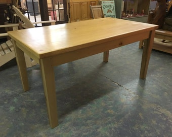 Pine tapered leg table
