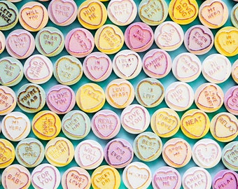 photographic print Love Heart sweets