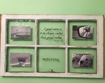 Window Pane Picture Frame Custom Picture Frame 4x6, 5x7 Photo Antique Rustic Window Bible Phrase or Family Customization 6 OR 4 Panes