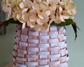 Rustic Hanging Basket With Hydrangeas