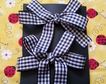 Houndstooth Pair Hairbows