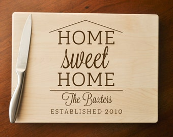 Cutting Board Personalized, Custom Cutting Board, Custom Personalized Wedding Gift, Housewarming Gift, Anniversary Gift, Christmas Gift
