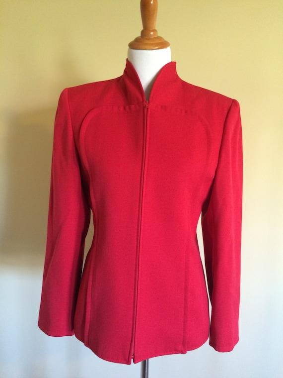 Valentino Vintage Jacket/ Valentino Red Jacket/ Valentino wool Jacket/ Valentino Red Vintage/ Valentino red wool/