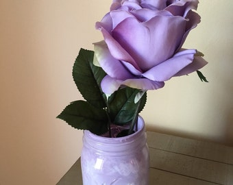 Mason jar flower decor