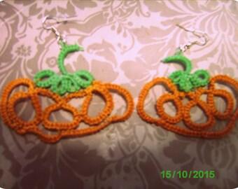 """Earrings """"Halloween Pumpkins"""""""