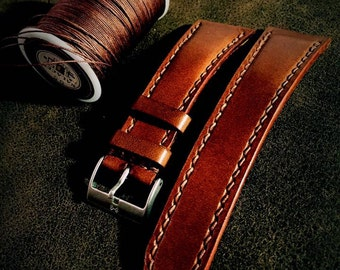 watch strap handmade leather