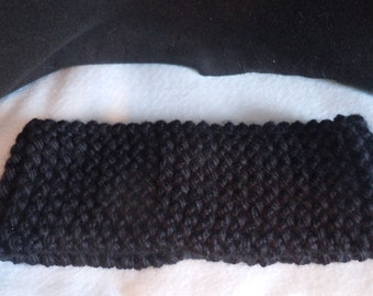 Black Headband/ Ear Warmer/ Neck Warmer