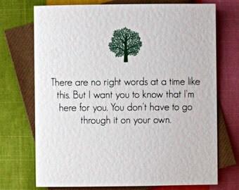 No Right Words - Empathy Card, Deep Friendship Card, Comfort Card, Here for you Card, Friendship Card, Illness Card, Sympathy Card.