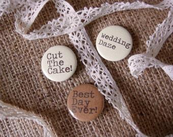 Badges de mariage / mariage Boho / rustique de mariage faveur de mariage / mariage Pins / rustique Badges / citations de mariage / cadeaux de mariage pin Badges
