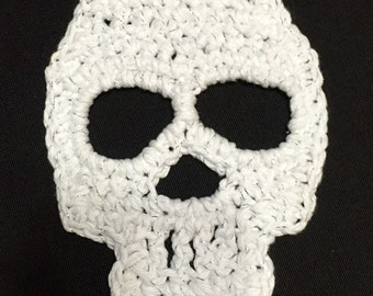 Crochet Skull Pattern Skull Applique Pattern Motif Crochet