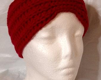 Crocheted Earwarmer, Wms XL, Crochet Headwrap, Crochet Headband, Winter Headband, XL