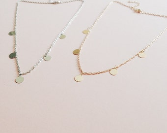 Money Chain Boho Necklace - Gold or silver tone - Minimal Jewellery