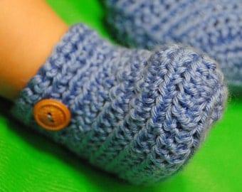 Baby Booties, Crochet Baby Booties, Newborn Booties, 0-3 Months