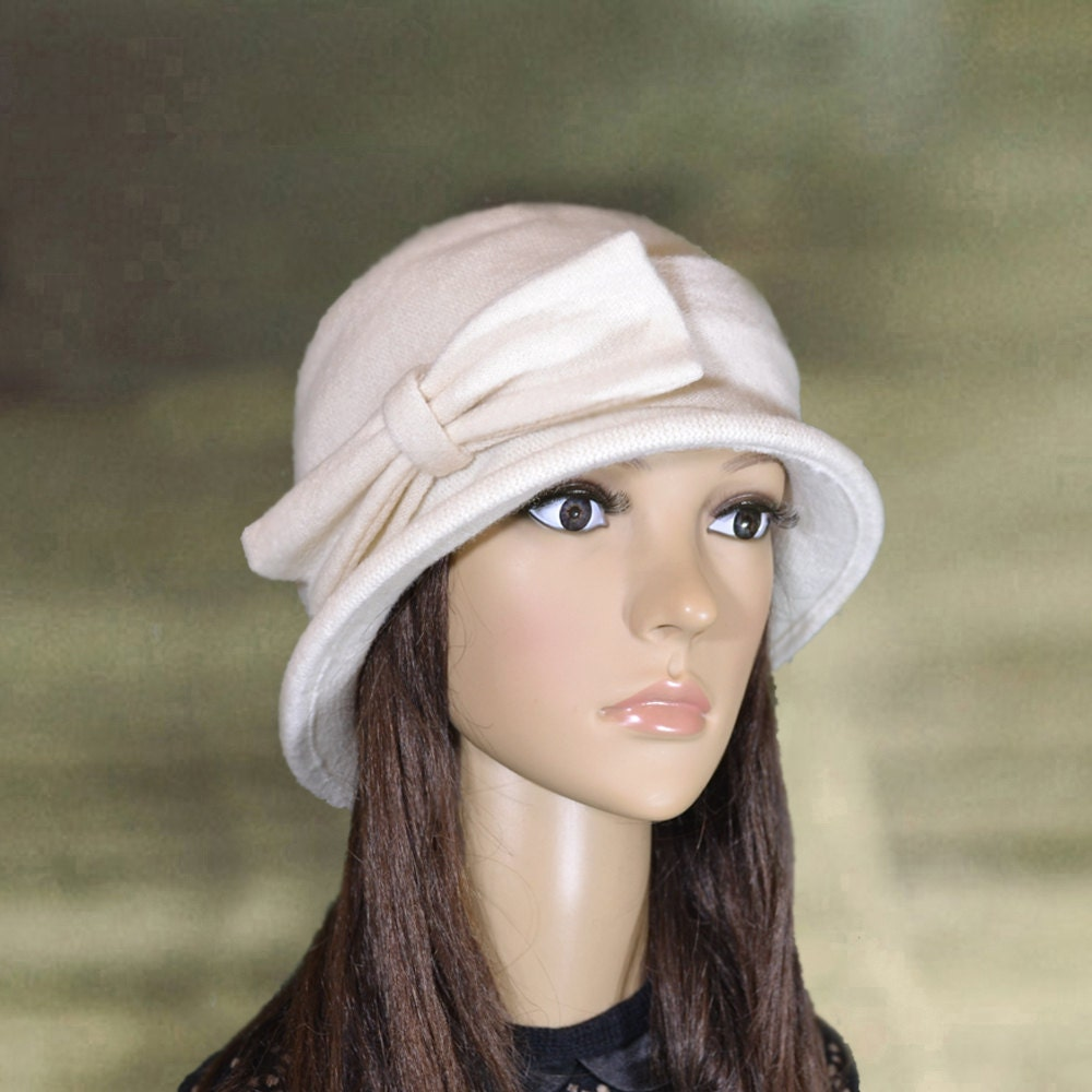 white felt hats felted ladies hat womens felted hat trendy