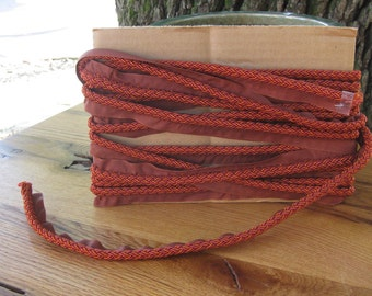 SALE! The Aiken Collection, Orange/Red Decorative Cord/Trim with lip. Beautiful Color. Horse/ Dog Collection
