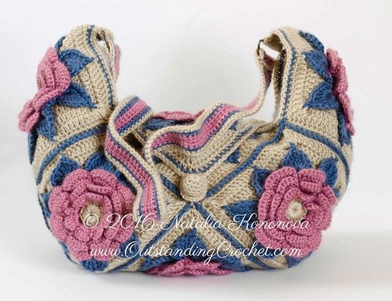 Easy Crochet Crossbody Bag Pattern : Crochet Shoulder Crossbody Bag Pattern by OutstandingCrochet