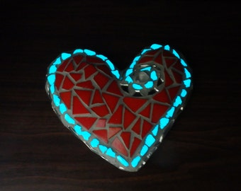 Glow in the Dark Heart Garden Ornament