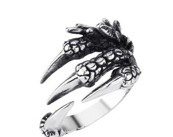Claw ring stainless steel 316L for him and her (SK-028)