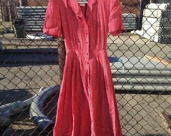 S/M vintage polkadot dress
