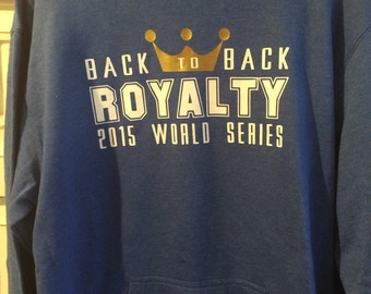 Back to back ROYALTY blue hoodie