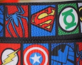 """Superhero 7/8"""" grosgrain ribbon"""