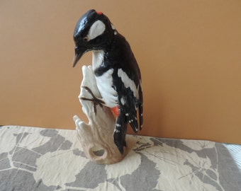 Goebel Great Spotted Woodpecker Made in West Germany Vintage