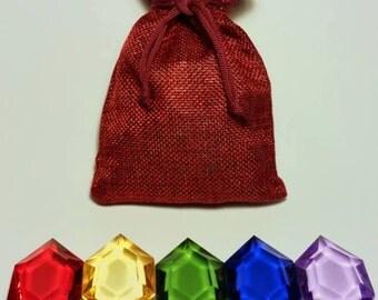 Bag of Rupees - Zelda - Acrylic gems