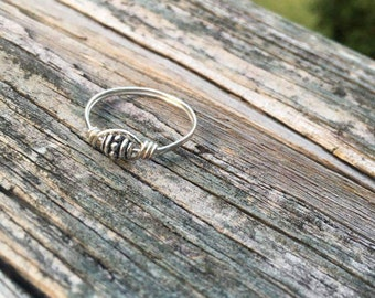 Wire-wrapped Silver Ring