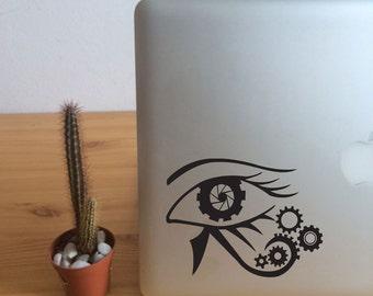 FUN STICKERS, steampunk eye, laptop decoration decals