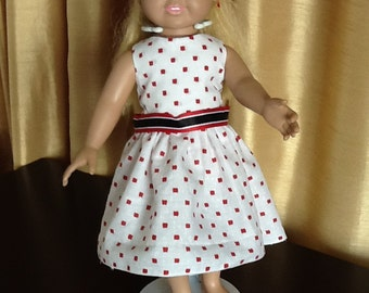 """Cotton dress for American Girl /18"""" goll"""