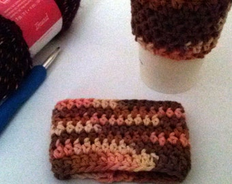 Desert Sands Crochet Coffee Cup Sleeve